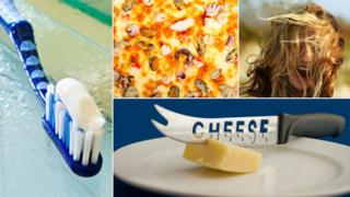 Euphemisms involving toothpaste, seafood pizza, windswept hair and cutting cheese