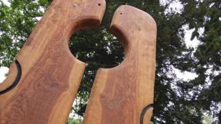 A new sculpture in Hillfield Gardens, Gloucester