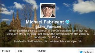 Michael Fabricant's Twitter account