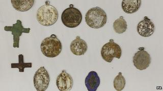 The items were put on display to the media at the National Museum of Ireland