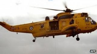 RAF Valley helicopter
