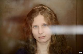 Maria Alyokhina in court in Moscow, August 2012