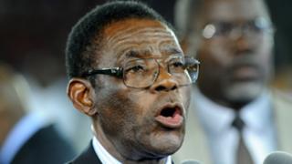 Equatorial Guine'sa President Teodoro Obiang