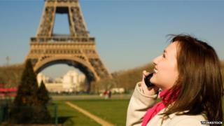 Woman at Eiffel Tower