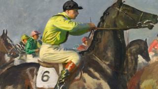 Yellow Jockey by Sir Alfred Munnings