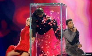 Azerbaijan practising at Eurovision