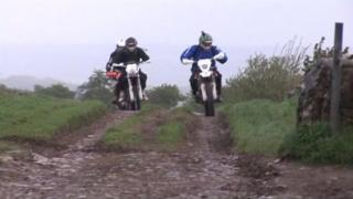 Bikers in the Peak District