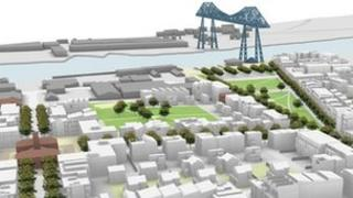 Artist's impression of refined Middlehaven plans