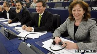 Jill Evans MEP in the European Parliament