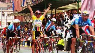 Chris Lillywhite winning the last Milk Race in 1993.
