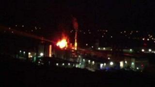 Fire at Egger's Hexham plant