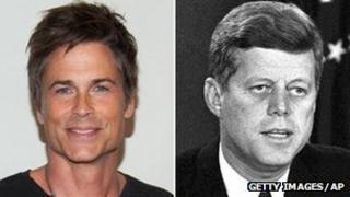 Rob Lowe and John F Kennedy