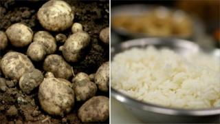 Potatoes and rice