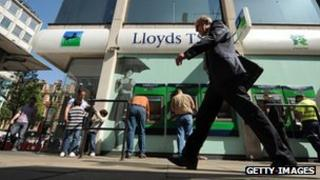 A branch of Lloyds Banking Group on Oxford street in central London