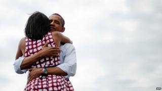 Michelle and Barack Obama (2012)