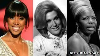 Kelly Rowland, Dusty Springfield and Nina Simone