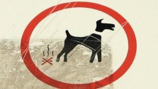 Dog mess sign