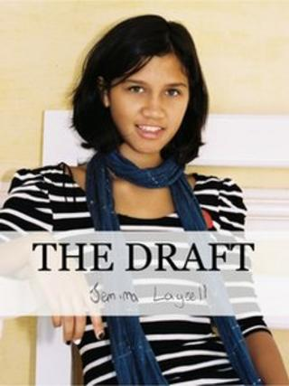 Front cover of The Draft showing a picture of Jemima Layzell