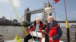 London Mayor Boris Johnson and Sir Robin Knox-Johnston