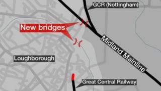 Map of where the bridge will go.