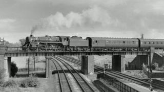 An archive picture of the original bridge