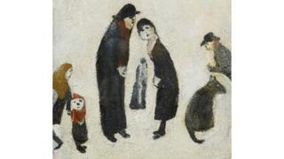 Figures Talking by LS Lowry