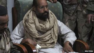 Saif al-Islam after his capture in the custody of revolutionary fighters in Obari, Libya, 19 November 2011