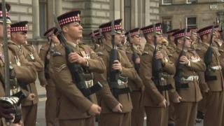 Scots Guards in Glasgow