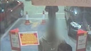 CCTV image of the car