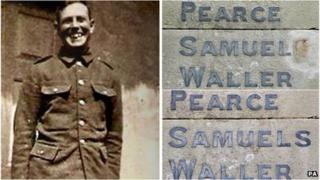 Pte George Samuel and war memorial