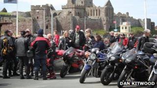 Visitors at the Isle of Man TT festival