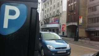 Cars parked at Mayflower Theatre