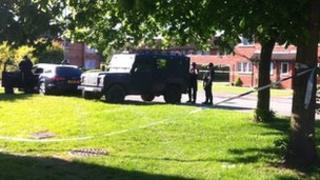Police cordon in Tile Hill