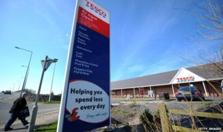 A Tesco store in Holyhead, Anglesey