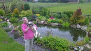 Jean Bailey in her garden