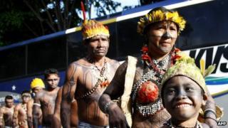 Mundurukus in Brasilia on 4 June 2013