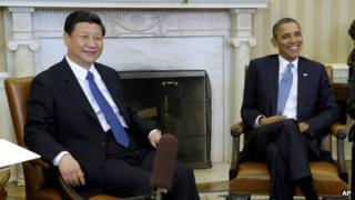 File image of Xi Jinping and Barack Obama at the White House on 14 February 2012