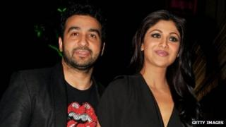 Raj Kundra, the owner of the Rajastan Royals team, is married to Bollywood star Shilpa Shetty