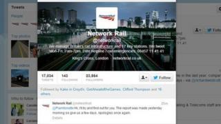 Network Rail's Twitter feed