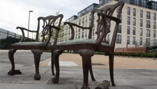 Two-chair sculpture by Patrick Haines