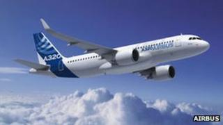 Computer-generated image of Airbus' A320