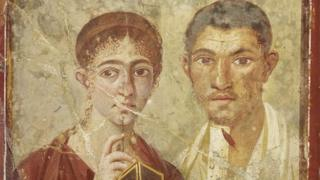 Wall painting of the baker Terentius Neo and his wife from the House of Terentius Neo, Pompeii, 50 to 79AD. © Soprintendenza Speciale per i Beni Archeologici di Napoli e Pompei / Trustees of the British Museum