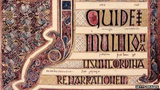 Page of Lindisfarne Gospels