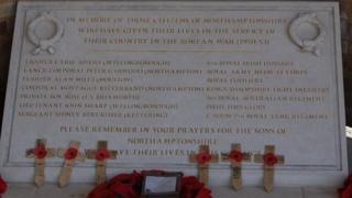 Memorial to Korean veterans in Northamptonshire