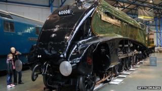 A locomotive inside the National Railway Museum