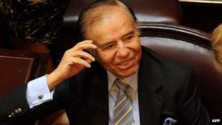 Carlos Menem in the Argentine Senate, 22 December 2011