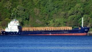 Fri Ocean cargo ship aground off Mull