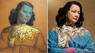 The painting Chinese girl and Monika Pon-su-san