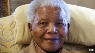 Former South African President Nelson Mandela in 2012