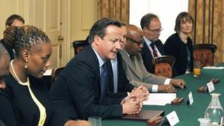 David Cameron meeting the leaders of Britain's Overseas Territories and Crown Dependencies